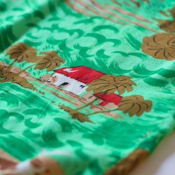Vintage Faded Glory Rayon Aloha Shirt - Large - image 5