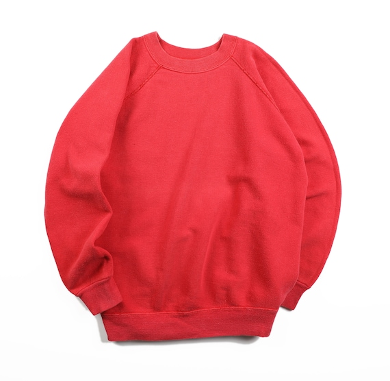Vintage 60s 70s High Cotton Red Faded Raglan Gusse