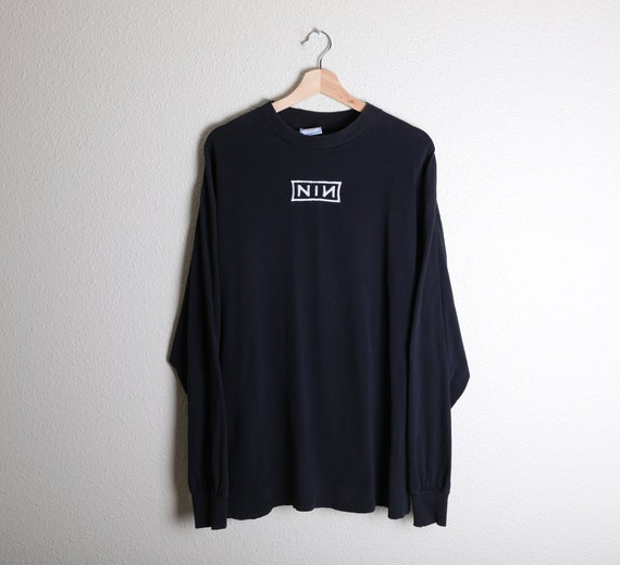 Vintage 90s NIN Nine Inch Nails Long Sleeve Singl… - image 1