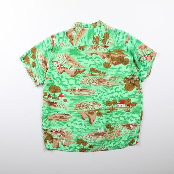 Vintage Faded Glory Rayon Aloha Shirt - Large - image 2