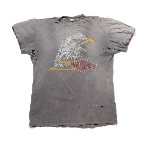 Vintage Distressed 1970s Harley Davidson T-Shirt -