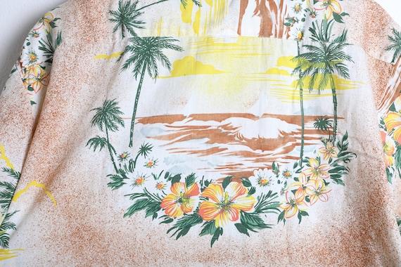 Vintage 1960s Rayon/Cotton Blend Aloha Shirt - La… - image 4