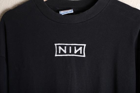 Vintage 90s NIN Nine Inch Nails Long Sleeve Singl… - image 2