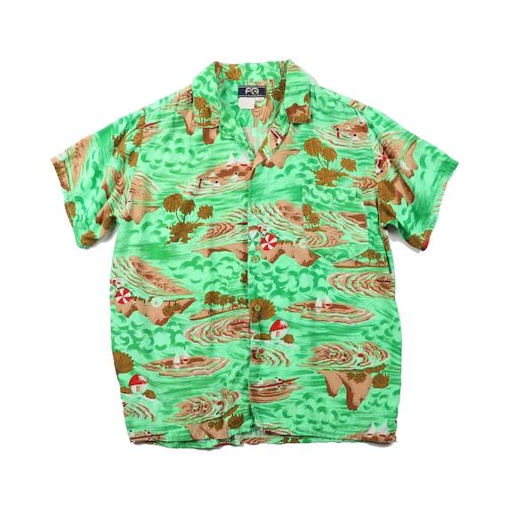 Vintage Faded Glory Rayon Aloha Shirt - Large