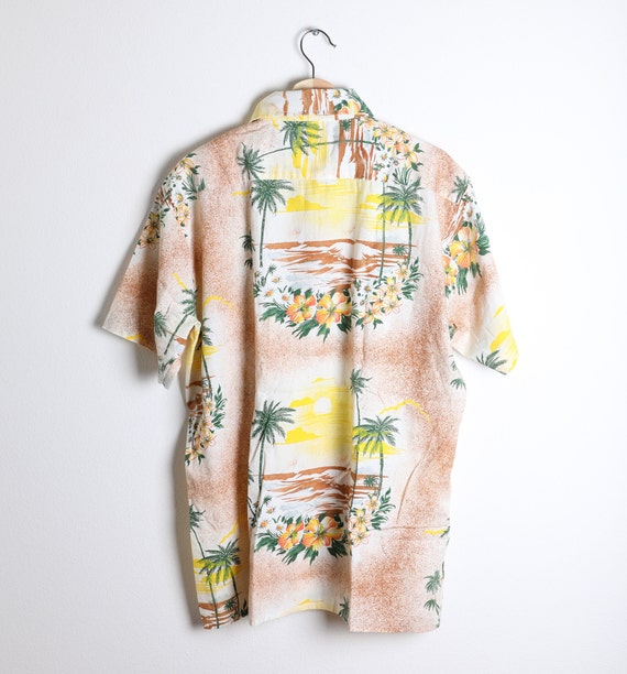 Vintage 1960s Rayon/Cotton Blend Aloha Shirt - La… - image 3