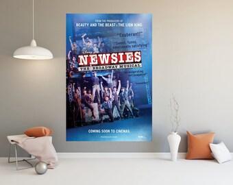 "Disney/'s Newsies the Broadway Musical Poster Live Film Print 13x20/"" 24x36/"" 32x48"
