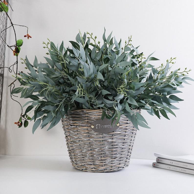 10PCS plante verte artificielle feuille en gros maison mariage | Etsy
