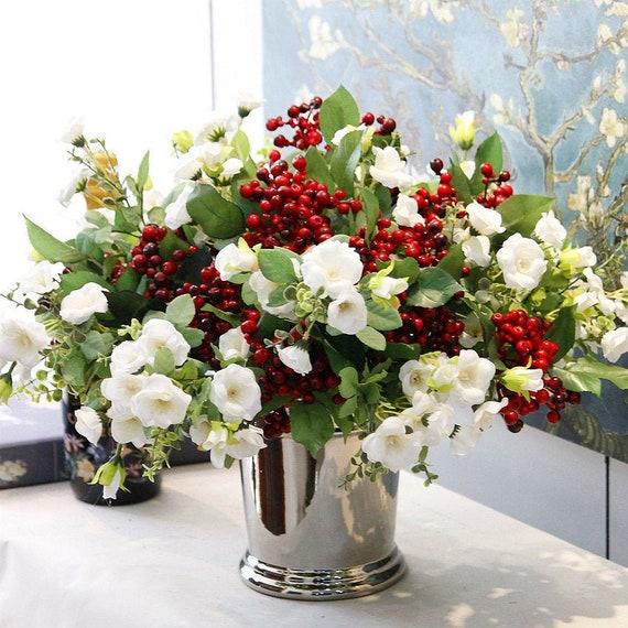 20PCS Artificial Fake Silk  Rose Fake Flower Bush Home Wedding Bouquet