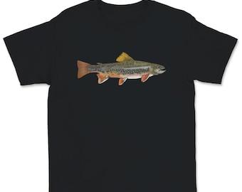 Kids Fishing Shirt for Kids Gift Brook Trout Fishing Shirt for Boys Youth Toddler Fishing Son Fishing Daughter Fishing Buddy Gift