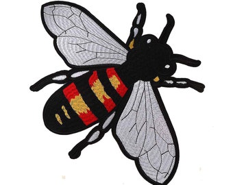 c5b479942 Large Bee Embroidery DIY Sew On Iron On Patch Applique GUCCI Style