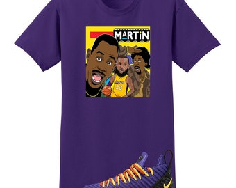 8ad92457606 We Will Fit shirt for the NIKE Lebron 16 Martin Purple Yellow