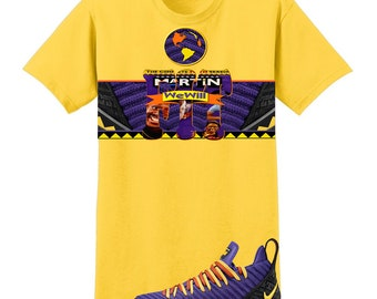 f2f78d033a3 We Will Fit shirt for the NIKE Lebron 16 Martin Purple Yellow