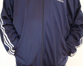 74e7feb59ec Navy Blue vintage Adidas tracksuit top size MEDIUM