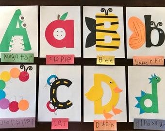 Precut Preschool Letter crafts Uppercase or Lowercase