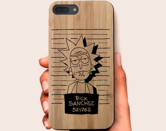 91e676b4378 Rick and Morty Engraved Wooden Phone Case For iPhone X 8 8 Plus 7 7 Plus 6  6s Plus 5 5S