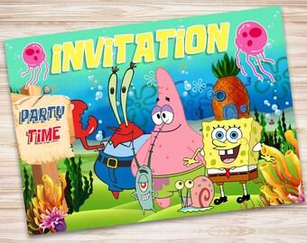 Sponge Bob Invite