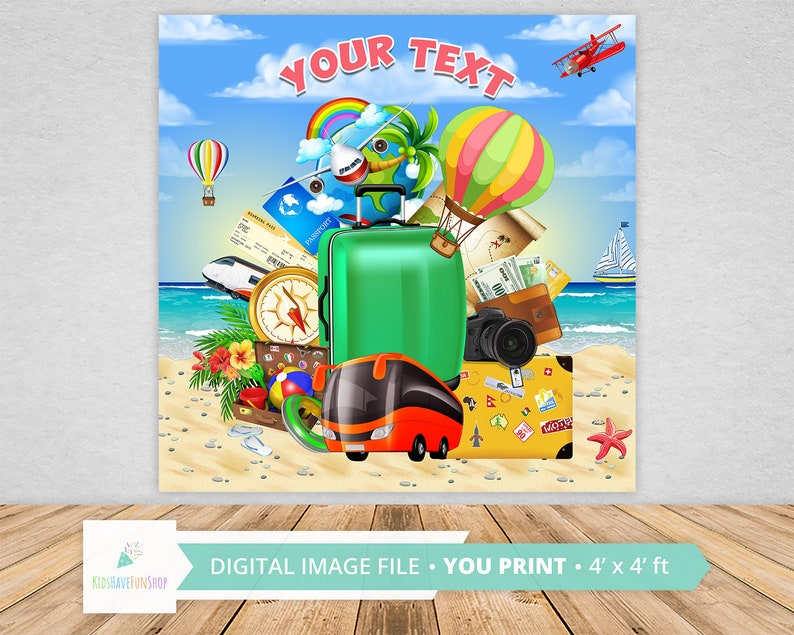 Travel Photo Booth Travel Theme Party Traveling *DIGITAL FILE Travel Baby Shower Travelling Backdrop Travel Print Travel Digital Paper