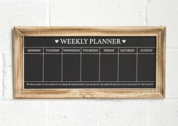 Chalk Board Blackboard Memo Weekly Planner Heart Wall Message Board Shabby Chic