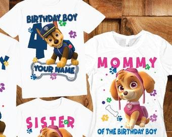 8d55a311d315a Paw patrol birthday shirt   Etsy