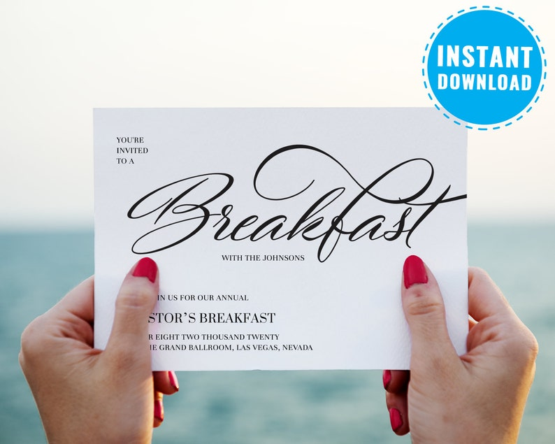 Breakfast Meeting Business Invitation Template Corporate Party InviteCompany Event Brunch Office Invite 6019