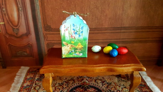 DOLLHOUSE MINIATURE ~ EASTER ~ CHOCOLATE EGG /& EASTER EGG HOUSE BOXES
