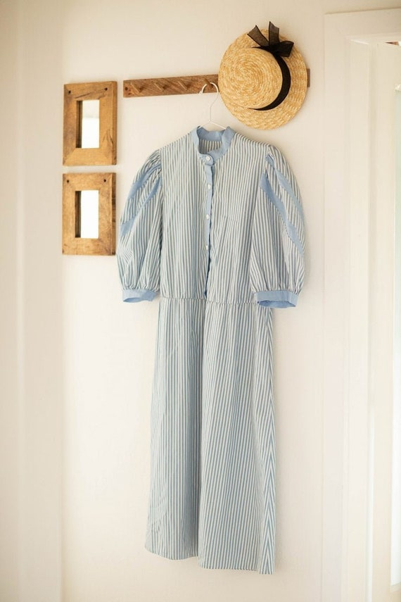 Long Prairie Dress | Striped Vintage dress | Maxi