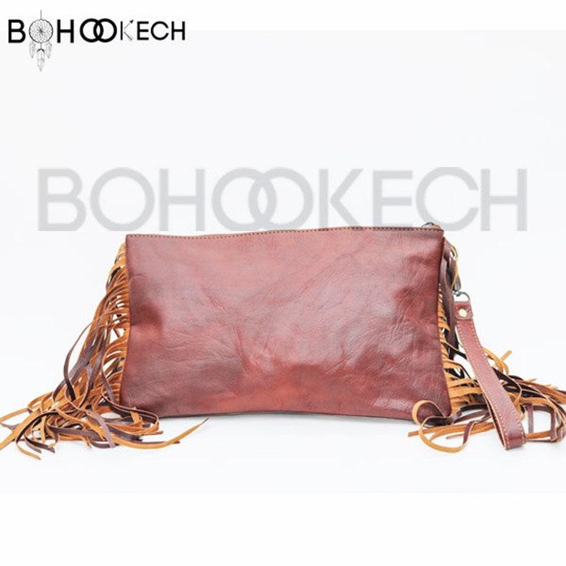 MOROCCAN BAG RUG kilim leather boho unisex Bohemian chic style leather  genuine Morocco bag