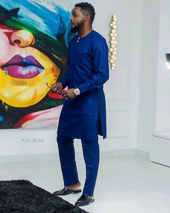 Afrikanische Dashiki Anzug Blauen Anzug Afrikanische Manner Etsy