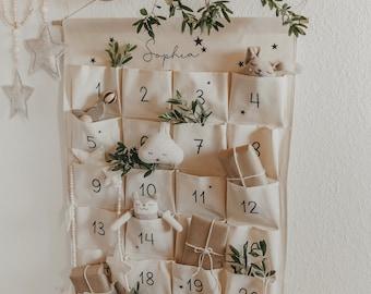Personalized advent calendar made of fabric with 24 pockets & name | DIY Advent Calendar| Christmas present| Fill the Advent calendar