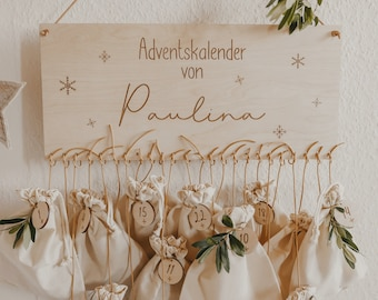 Personalized advent calendar with numbers from 1-24 - motif star flake | DIY Advent Calendar| Christmas present| Fill the Advent calendar