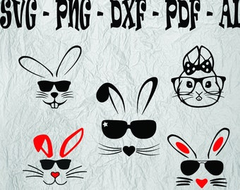 74671caeb98b Bunny with Glasses svg