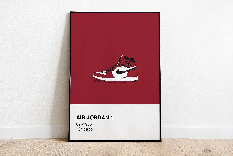 Air Jordan 1 poster RGB sneaker poster Nike Jordan 1 | Etsy