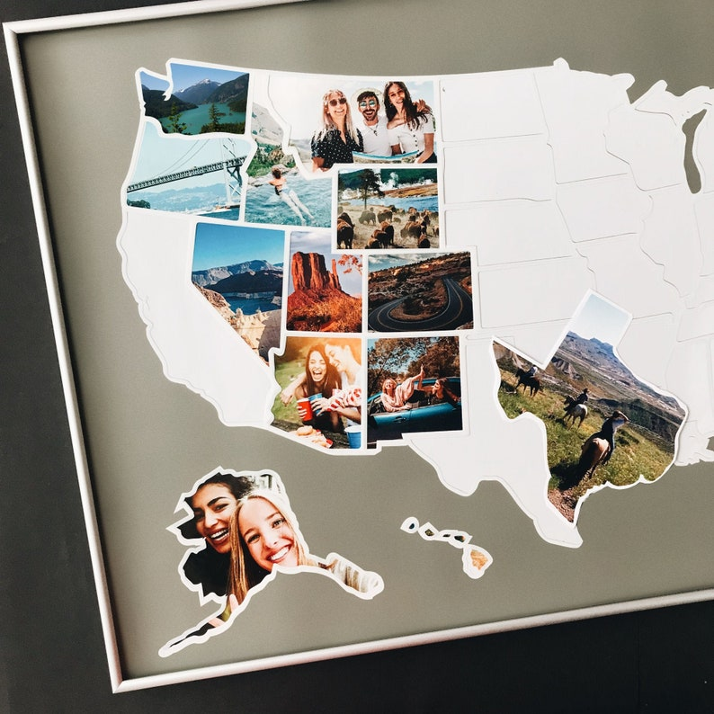 Photo Collage  USA Photo Map  FREE SHIPPING image 1