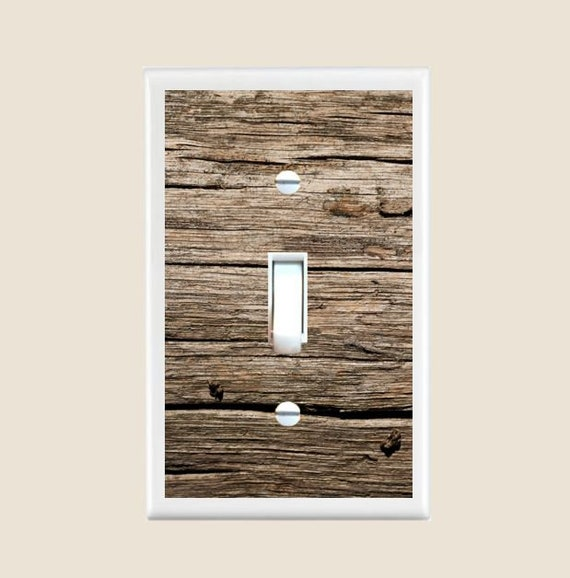 Rustic Shabby Chic Wood Plank Floral Design Decor Switch Plates And Outlet Covers Triple Toggle Metal Light Switch Cover Free Shipping