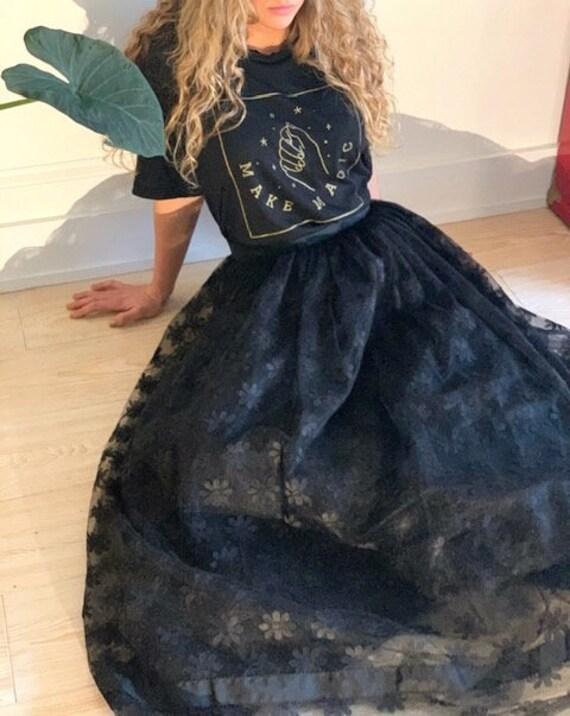 VINTAGE 20's Victorian Handmade Lace Skirt