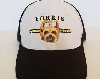 c5e06c3462e BLING New Cute YORKIE Trucker Hat