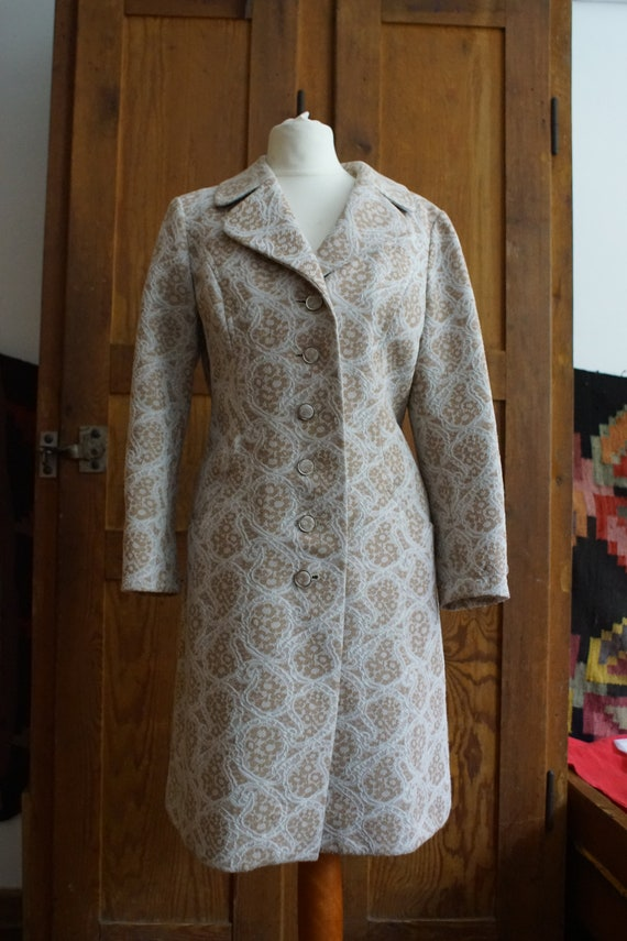 60s coat flower paisley sixties