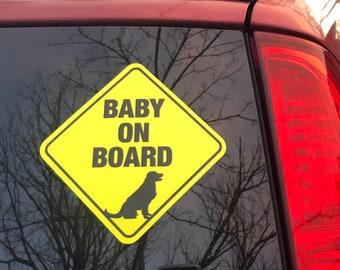 sticker vinyl decal laptop car window puppy dog doors foot Paws on board