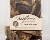 Mocha Beer Natural Exfoliator Soap Bar