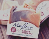 Orange Patchouli Natural Soap Bar