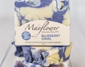Blueberry Swirl Natural Soap Bar