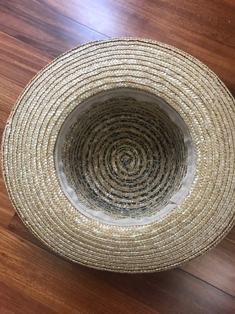 Vintage straw and leopard sunhat