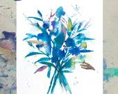 A4 Print, Anemone print, Peony print, gift for flower lover, gift for gardeners, lavender plant gift, flower art gift, flower room decor