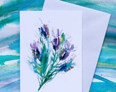 Butterfly Lavender - (BLANK) Greetings Card