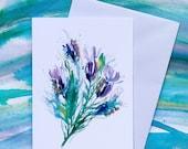 Butterfly Lavender - (BLANK) Greetings Card