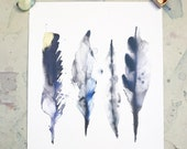 A4 Print, Feathers print,  Gift for feather lover, gift for nature lovers, feather art gift, feather room decor