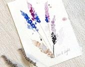 ORIGINAL Watercolour, Lavender Love & Light Intention painting