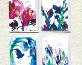 Mantra Card Pack 1 (4 cards), cards for nature lovers, positive cards, birthday greetings card, thank you card, with love