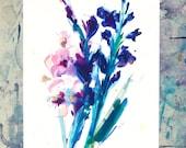 A4 Print, Gladioli print, Gift for flower lover, gift for gardeners, gladioli flower gift, flower art gift, flower room decor
