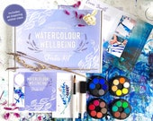 Watercolour Wellbeing Starter Kit, art class, watercolour kit
